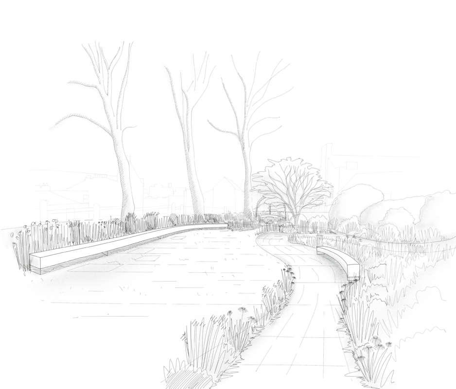 Main Garden Sketch Shade