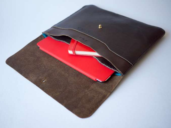 Ipad case with red notebook