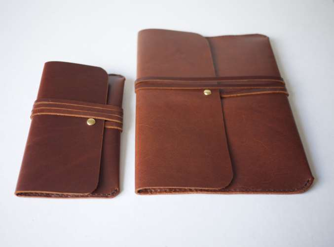 Leather Glasses and Ipad cases