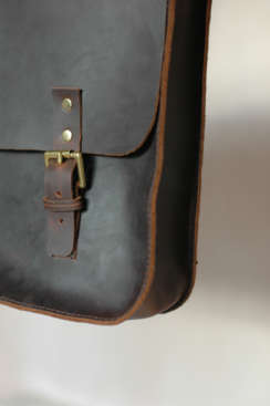 Man bag solid brass buckle detail